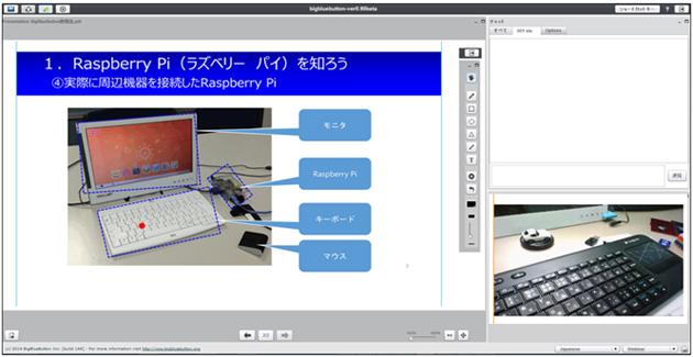 バーチャル授業画面
