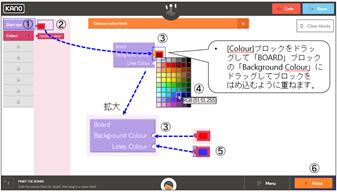 ビジュアルプログラムツールを使用した学習